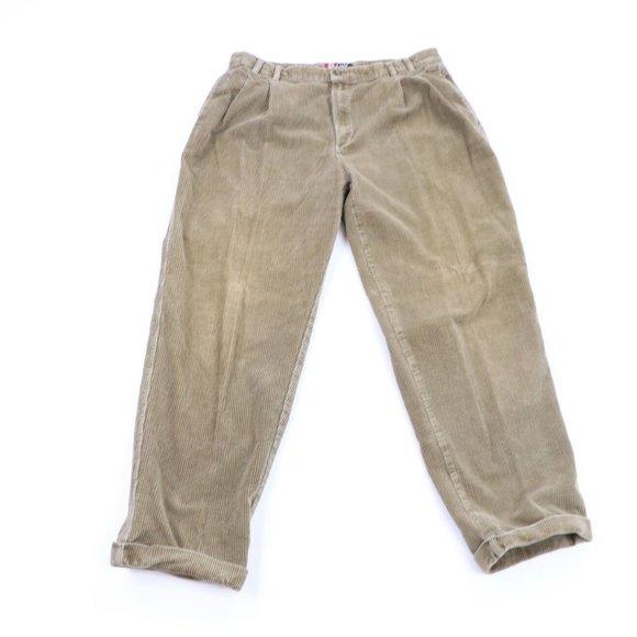 Vintage Ralph Lauren Pleated Cuffed Corduroy Pants